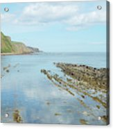 Burnmouth Shore, Cliffs And North Sea Acrylic Print