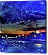 Bus Stop Sunrise Acrylic Print