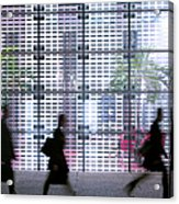 Business People Passing Modern Office Acrylic Print