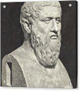 Bust Of Grecian Philosopher Plato Acrylic Print