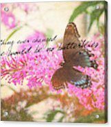 Butterfly Kisses Quote Acrylic Print