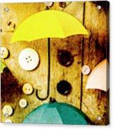 Button Storm Acrylic Print