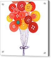 Buttons As Balloons Acrylic Print
