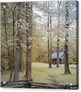 Cabin In The Smoky's Acrylic Print