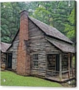 Cabin In The Woods - Fractals Acrylic Print