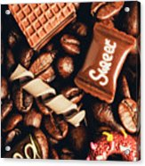 Cafe Beans And Sweet Treats Acrylic Print