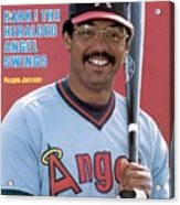 California Angels Reggie Jackson Sports Illustrated Cover Acrylic Print