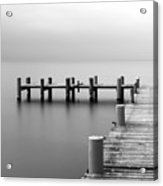 Calm Scene In Black And White With Acrylic Print