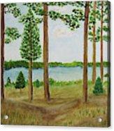 Camping At The Lake Acrylic Print