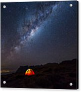 Camping Under The Stars. The Milky Way Acrylic Print