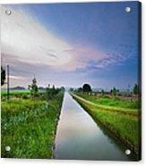 Canal De Lourcq - Precy Sur Marne - Acrylic Print