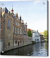 Canal In The Old Town Of Brugge Acrylic Print