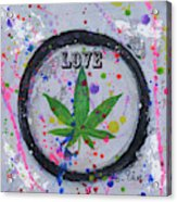 Cannabis With Love Acrylic Print
