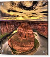 Canyons Bend Vertical  Acrylic Print