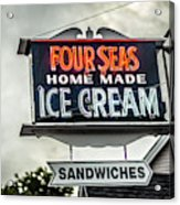 Cape Cod Four Seas Home Made Ice Cream Neon Sign Acrylic Print