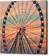 Capital Wheel Shining At Sunset  Acrylic Print