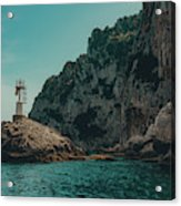 Capri Lighthouse Acrylic Print