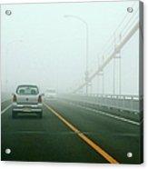 Car Crossing Bridge Acrylic Print