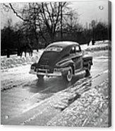 Car In The Snow Acrylic Print