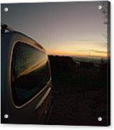 Car Sunset Acrylic Print
