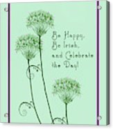 Card For St. Patrick's Day Acrylic Print