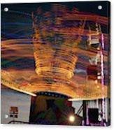Carnival Rides Motion Blur Acrylic Print