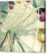 Carolina Beach Ferris Wheel Acrylic Print