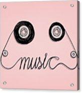 Cassette Tape Music Graphic Acrylic Print