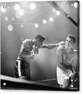 Cassius Clay Snarling At Floyd Patterson Acrylic Print
