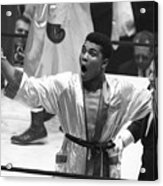 Cassius Clay Vs Doug Jones Acrylic Print