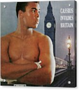 Cassius Invades Britain Sports Illustrated Cover Acrylic Print