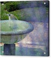 Castel Fountain Acrylic Print