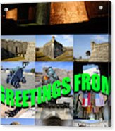 Castillo De San Marcos Custom Card Acrylic Print