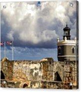 Castillo San Felipe Del Morro Lighthouse San Juan, Puerto Rico  Acrylic Print