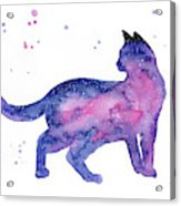 Cat In Space Acrylic Print