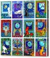 Cat Zodiac Paintings  Acrylic Print