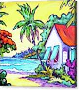 Cayman Cottage On The Bay Acrylic Print