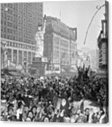 Celebrants In Times Square On V-e Day Acrylic Print