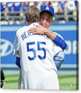Celebrities At The Los Angeles Dodgers Acrylic Print