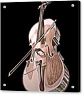 Cello String Music Instrument Musician Color Designed Acrylic Print