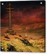 Celtic Cross Llanddwyn Island Acrylic Print