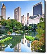 Central Park In New York City Acrylic Print