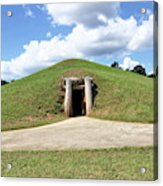 Indian Mound At Ocmulgee National Monument 1 Acrylic Print