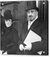 Chaim Weizmann And His Wife Vera Acrylic Print