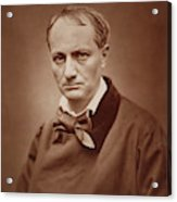 Charles Baudelaire, French Poet, Portrait Photograph  Acrylic Print