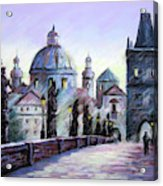 Charles Bridge  Prague Acrylic Print