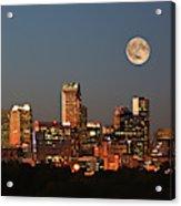 Charlotte City Skyline At Sunset Acrylic Print