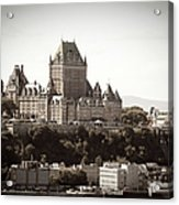Chateau Frontenac From Levis, Quebec Acrylic Print