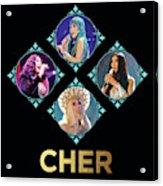 Cher - Blue Diamonds Acrylic Print