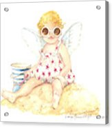 Cherub In The Sand Acrylic Print